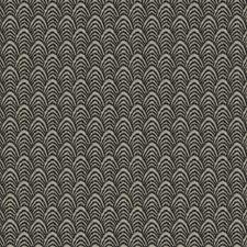 Black Smoke Flamestitch Decorator Fabric by S. Harris