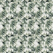 Jungle Green Asian Decorator Fabric by Vervain