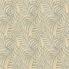 Aqua Leaves Decorator Fabric by Fabricut