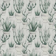 Viridian Embroidery Decorator Fabric by Vervain