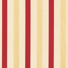 Cranberry Stripes Decorator Fabric by Vervain