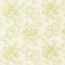 Honeydew Floral Decorator Fabric by Vervain