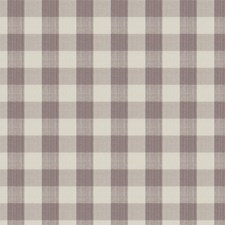 Lavender Check Decorator Fabric by Vervain