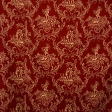 Red Toile Decorator Fabric by Vervain