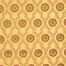 Crimson Embroidery Decorator Fabric by Vervain