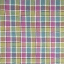 Cerise Multi Check Decorator Fabric by Stroheim