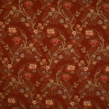 Cranberry Floral Decorator Fabric by Trend