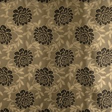 Ebony Floral Decorator Fabric by Trend