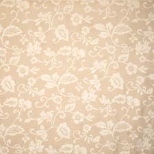 Buff Floral Decorator Fabric by Trend