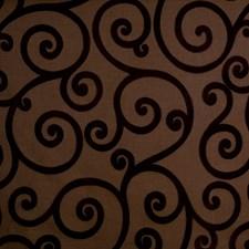 Pecan Scrollwork Decorator Fabric by Trend