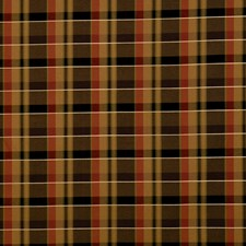 Caramel Check Decorator Fabric by Trend