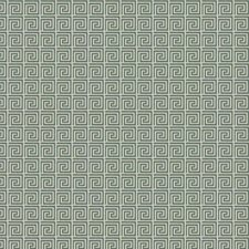 Aqua Geometric Decorator Fabric by Trend