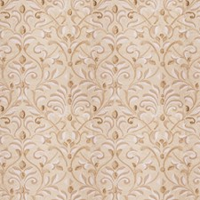 Natural Gold Embroidery Decorator Fabric by Fabricut