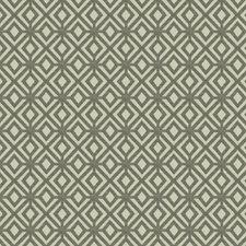 Smoke Geometric Decorator Fabric by Trend