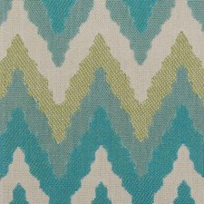 Aqua/Green Flame Stitch Decorator Fabric by Duralee