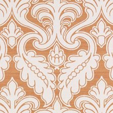 Tangerine Damask Decorator Fabric by Duralee