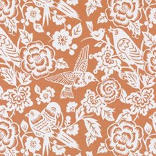 Orange Birds Decorator Fabric by Duralee