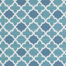 Aquamarine Geometric Decorator Fabric by Duralee