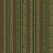 Green/Rust/Beige Lattice Decorator Fabric by Kravet