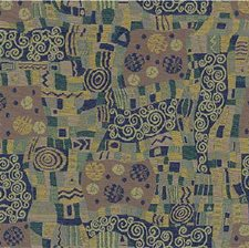 Purple/Green/Yellow Modern Decorator Fabric by Kravet
