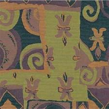Green/Purple/Blue Modern Decorator Fabric by Kravet