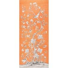 Tangerine Decorator Fabric by Schumacher