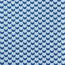 Navy/Sky Decorator Fabric by Schumacher