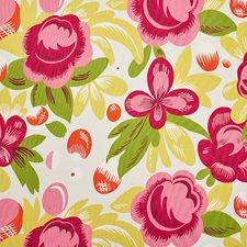 Poppy/Yellow Decorator Fabric by Schumacher