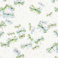 Sky/Leaf Decorator Fabric by Schumacher