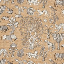 Carbon/Sienna Decorator Fabric by Schumacher