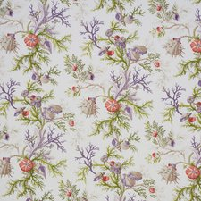 Purple/amp/Coral Decorator Fabric by Schumacher