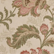 Rose/green Decorator Fabric by Highland Court