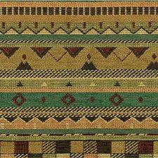 Green/Beige Ethnic Decorator Fabric by Kravet