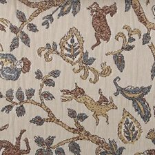 Blue/Brown Animal Decorator Fabric by Highland Court