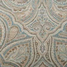 Aqua Damask Decorator Fabric by Highland Court