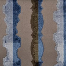 Blue/Brown Abstract Decorator Fabric by Highland Court