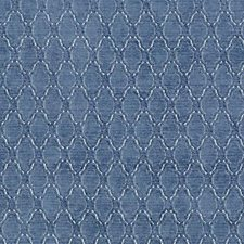 French Blue Chenille Decorator Fabric by Highland Court