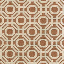 Persimmon Geometric Decorator Fabric by Highland Court