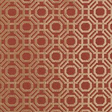 Russett Geometric Decorator Fabric by Highland Court