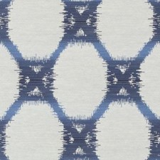 Indigo Geometric Decorator Fabric by Duralee