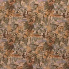 Green/Rust Novelty Decorator Fabric by Kravet