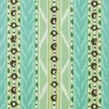 Sea Green Ethnic Decorator Fabric by Duralee