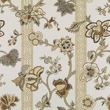 Linen/Charcoal Floral Large Decorator Fabric by Duralee