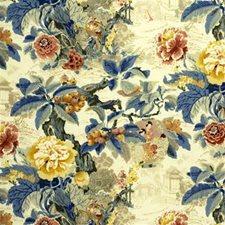 Yellow Print Decorator Fabric by Lee Jofa