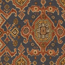 Blue Ethnic Decorator Fabric by Lee Jofa