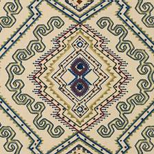 Sage/Blue Ethnic Decorator Fabric by Lee Jofa