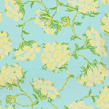 Skye Blue Botanical Decorator Fabric by Lee Jofa