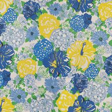 Blue/Yellow Print Decorator Fabric by Lee Jofa