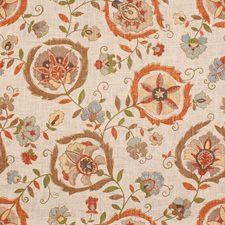 Tan/Orange Botanical Decorator Fabric by Lee Jofa