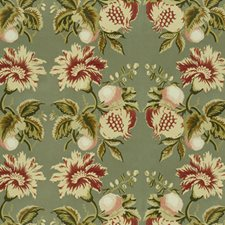 Sage/Berry Print Decorator Fabric by Lee Jofa
